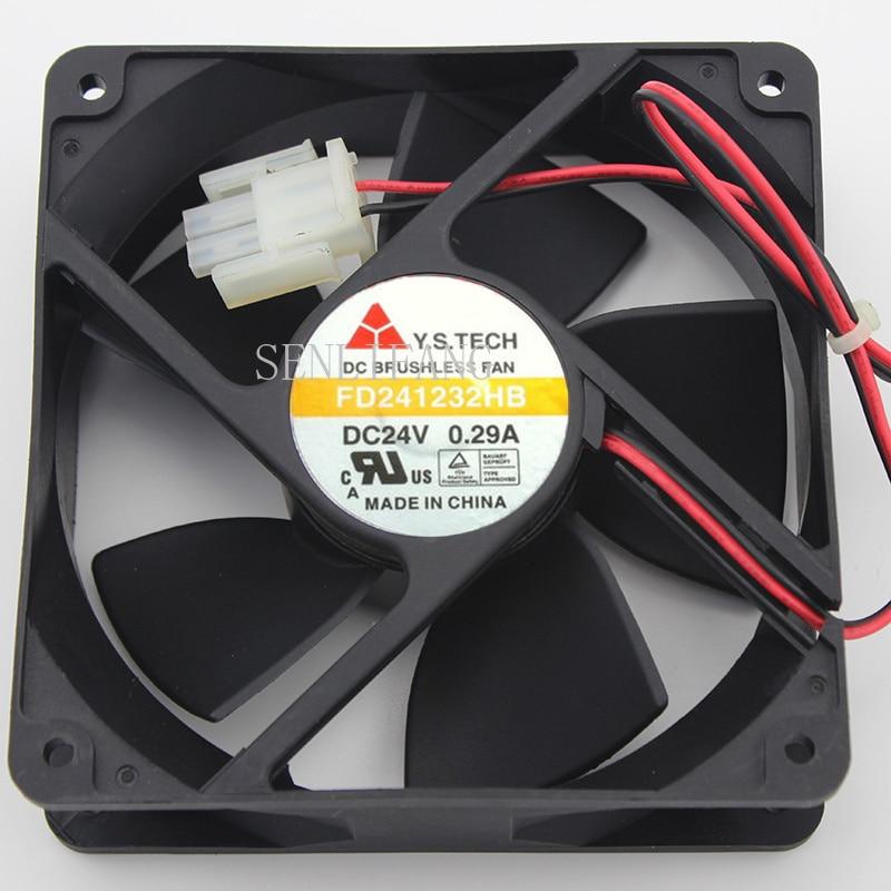 For Y.S TECH FD241232HB Server Cooler Fan DC 24V 0.29A 120x120x32mm 2-wire