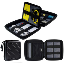 JILIDA EVA Digital HD Phone Cable Storage Bag Untuk Pengatur Pelancongan Travel Fixed Multifunction Power Bank Earphone Pouch