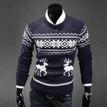 2016 neue Mode Winter Pullover Männer Gestrickten Dünnen Pullover Weihnachten Hirsch Mens Casual Oansatz Pullover Sueter Hombre 22