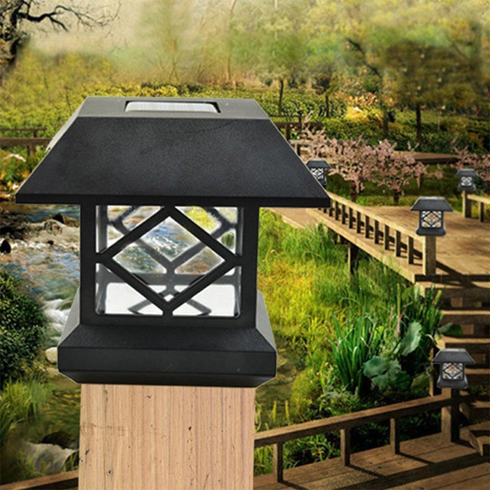 Solled Solar Fence Post Cap Lights Outdoor Garden Solar
