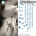 Women Sexy Shoulder Temporary Tattoo Musical Notes Design Fake Tattoo Men Sex Products Body Art Waterproof Tattoo Sticker Taty