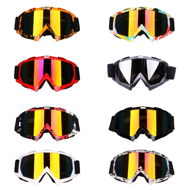 *Men Women Motorcycle Bike Goggles Sunglasses Ski Snowboard Glasses Eyewear Cycling Scooter Outdoor Sports Riding Dust Goggles H