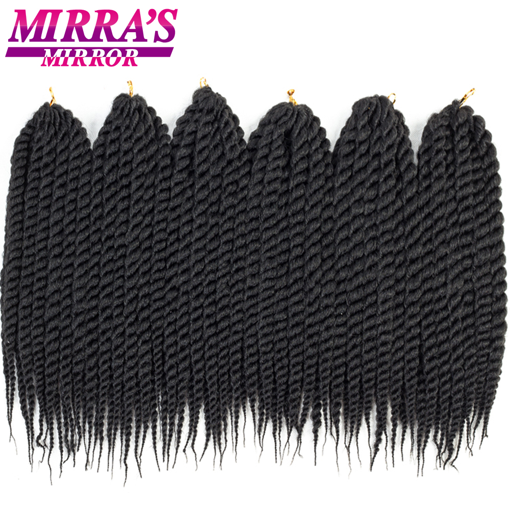 "6packs 12"" 18"" 22"" Havana Mambo Twist Crochet Hair Synthetic Crochet Twist Hair Pure Color Braiding Hair Extensions"
