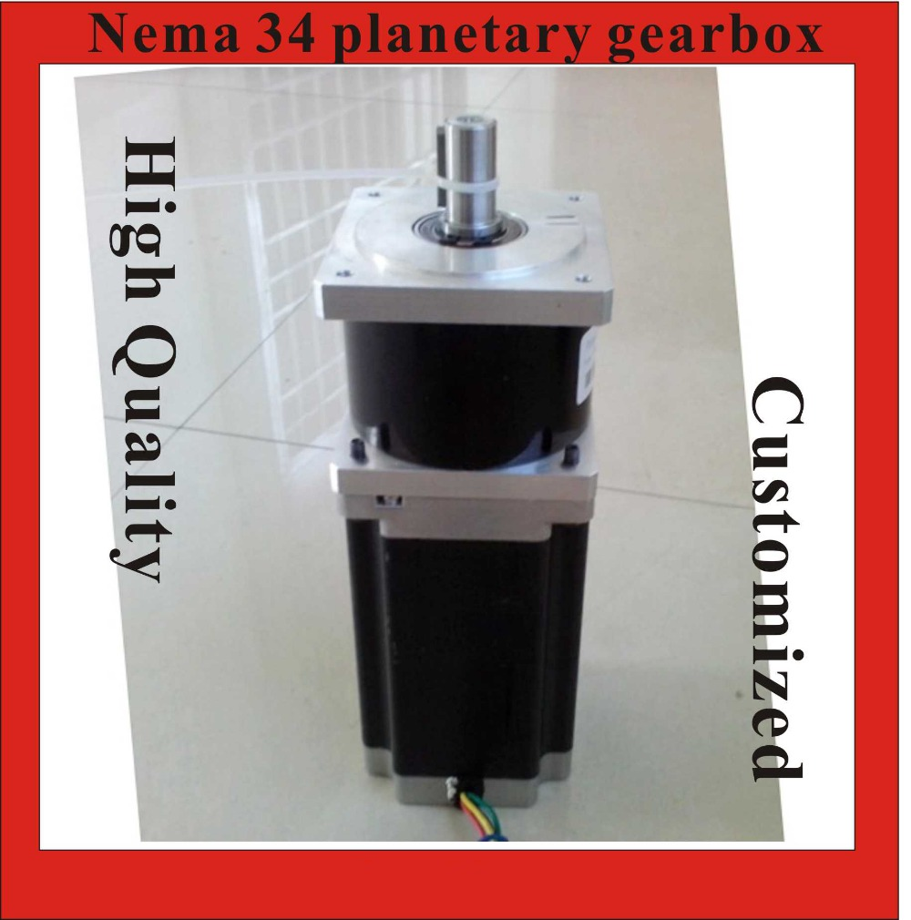 5:1 Precision Version NEMA34 Planetary Stepper Motor 126mm Motor Length NEMA 34 Gear Stepper high precision nema 34 planetary stepper motor 126mm motor length nema34 geared stepper ratio 15 20 25 50 100 1