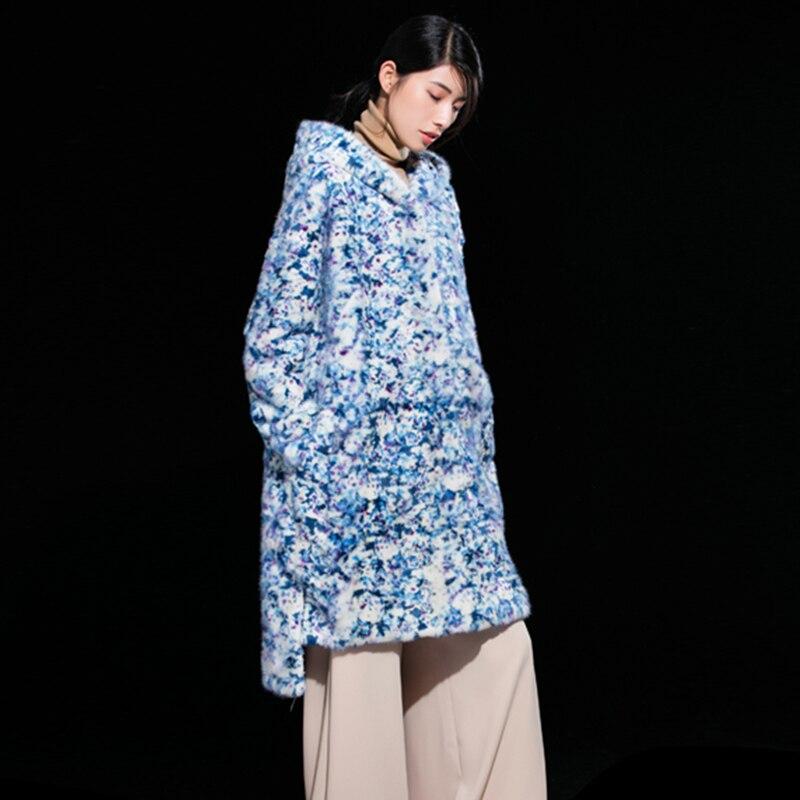 Nouveautés Vêtements Floral Lvchi Femmes Garder Hiver Mode Manteaux Custom Réel Manteau De Fourrure As Chaud Lâche Made Au Photo Enceintes Vison VqUMpSz