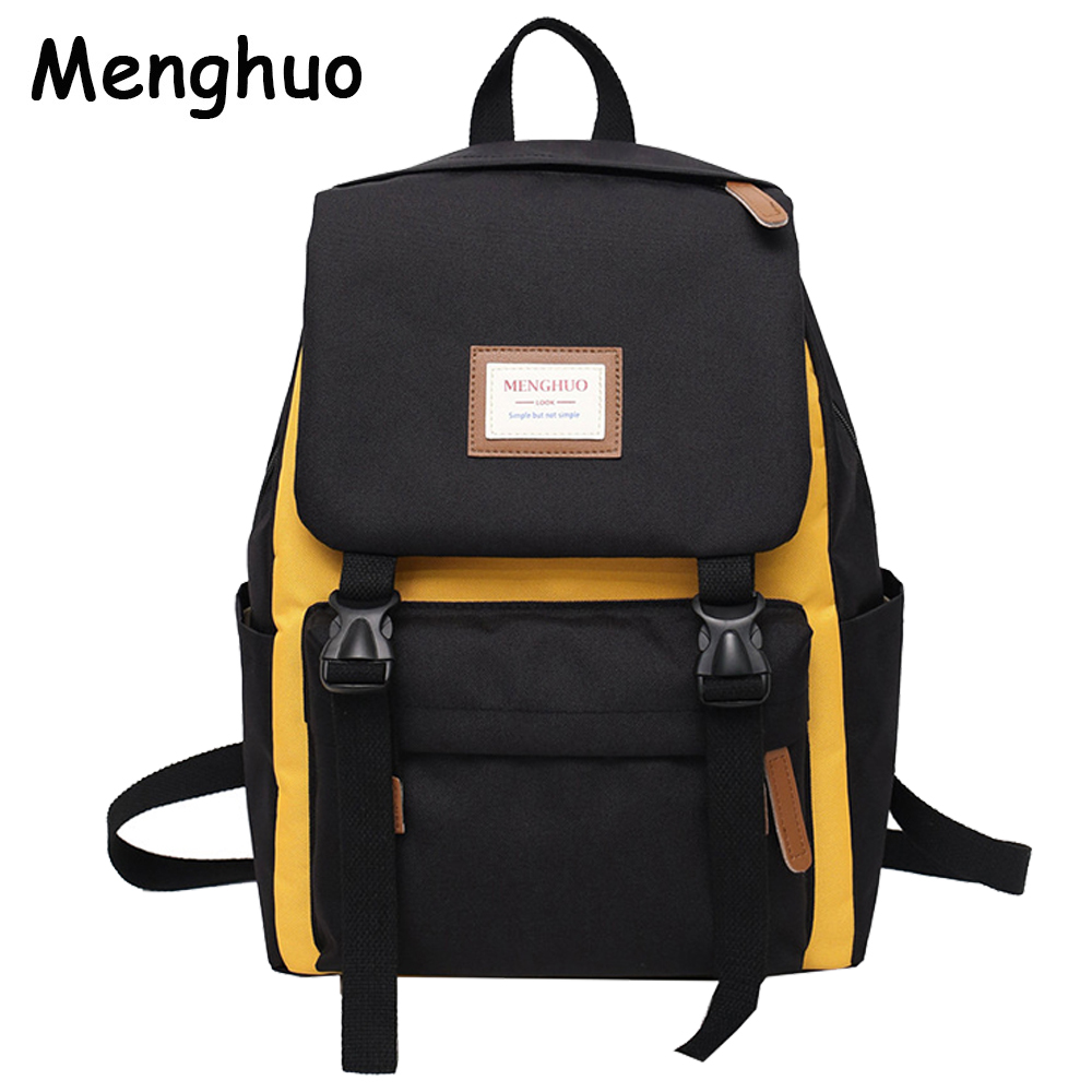 Menghuo Cover Backpack Women Leisure Travel Laptop Backpacks Men Business Mochila Waterproof Nylon Teenagers Student School Bags new men business waterproof travel backpack women fashion college schoolbag male leisure nylon 15 6inch laptop notebook bags