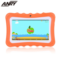 ANRY 7 inch Kids Tablet Android4.4 8G/512M Quad Core WiFi Dual Camera Tab Gift for Baby Children Learning PC Tab With Free Cover
