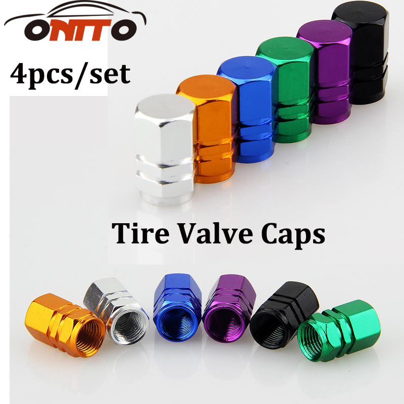 1 set universal aluminum hexgon style auto car tyre valve caps motorcycle bicycle wheel tire valve cap