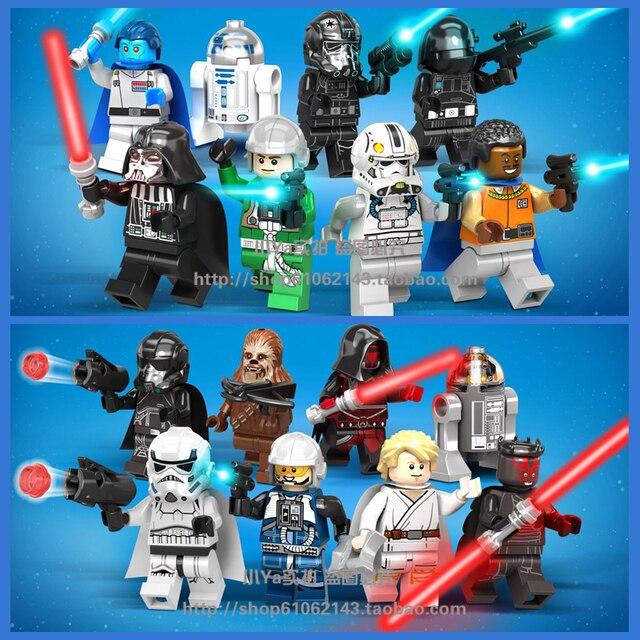 16pcs Star Battle Luke Skywalker Darth Maul R2 D2 Chewbacca Anakin ...
