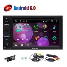Android 6.0 Car Stereo with Wireless Backup Camera 2 Din Radio Touchscreen 1080P Video GPS Navigation Wifi +External Microphone