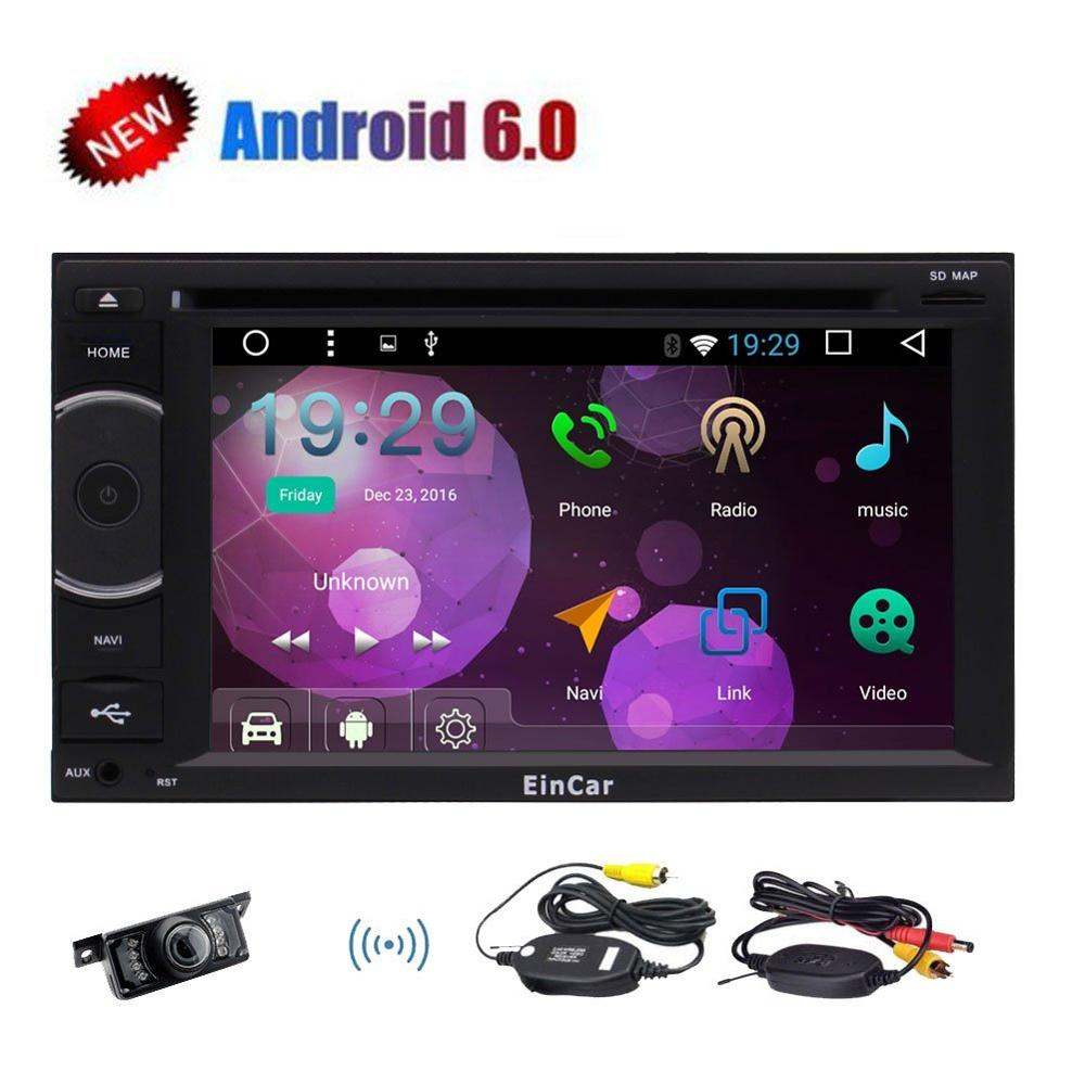 Android 6 0 Car Stereo with font b Wireless b font Backup Camera 2 Din Radio