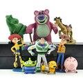 9 pçs/set Zumbido de Toy Story Woody cowboy boneca brinquedos crianças boneca ornamentos Automotivos Decoração presente de aniversário