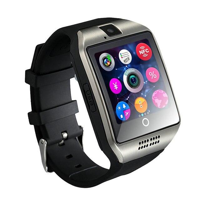 Silver Phone watch bluetooth smartwatch 5c64fdc077942