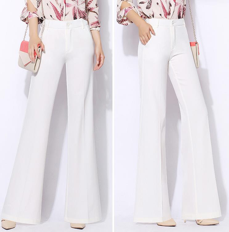 Wide     leg     pants   women new high waist loose   pants   chiffon casual trouser