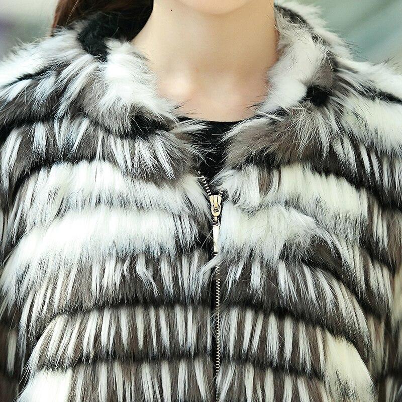 Nerazzurri Abrigo de piel sintética de invierno Mujer Suelta mullida - Ropa de mujer - foto 6