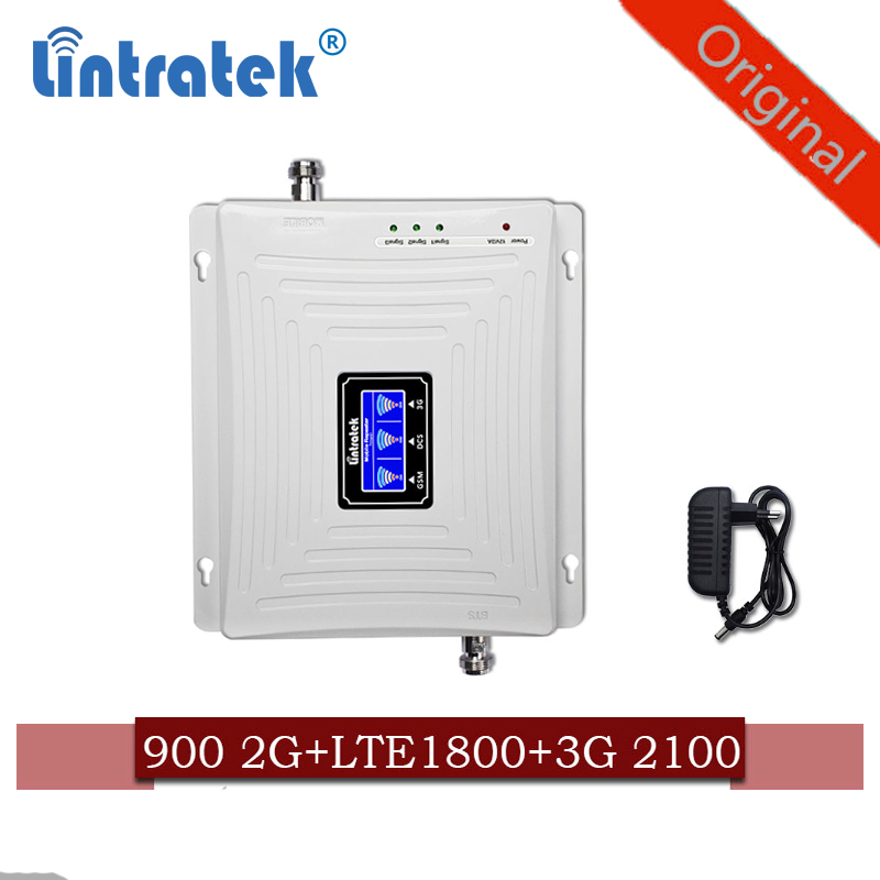 Signal Booster 2g 3g 4g Gsm 900+(B1)WCDMA 2100+(B3) 1800 LTE Triple Band Cellphone Signal Repeater Mobile Cellular Amplifier Kit