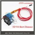 3D V6 3D Принтер j-глава Hotend с Один Вентилятор Охлаждения для 1.75 мм/3.0 мм Прямой Нити уэйд Экструдер 0.3 мм/0.4 мм/0.5 мм Сопла