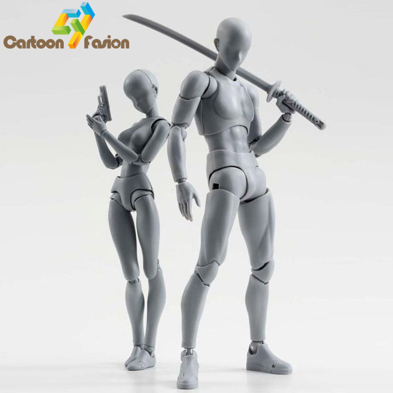 2 Style Body Chan Pale Gray Color 15cm Figma Bandai SHF Ferrite PVC Action font b