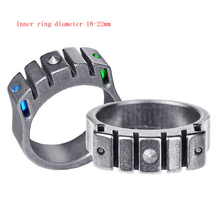 Cold ring cold ring plus body ring tritium luminescence EDC multifunctional defense window breaker in Self Defense Supplies from Security Protection