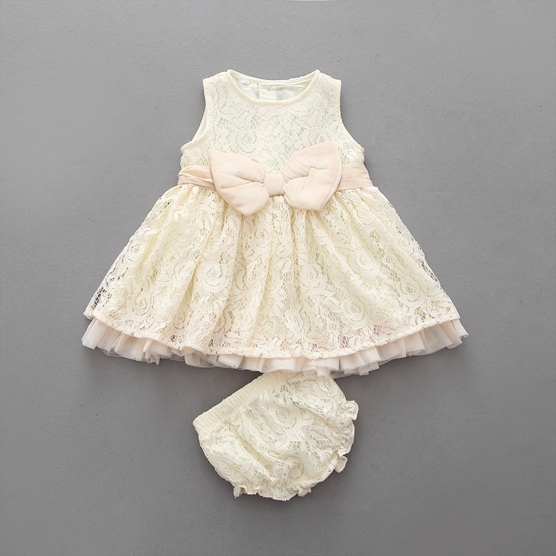 EMS DHL Free 2016 NEW Baby girls fashion 2pc Suit Lace dress +Bloomers Infants outfits Summer Style Birthday Suit Infant wear чехол крышка apple leather case для apple iphone 7 8 кожаный темно синий