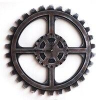 Viento Industrial Mecánico de Engranajes Creativos Adornos de Decoración de Superficie Suave 40 cm Engranaje de la Pared Reloj de Pared de Pared Decorativos Casa de Diseño