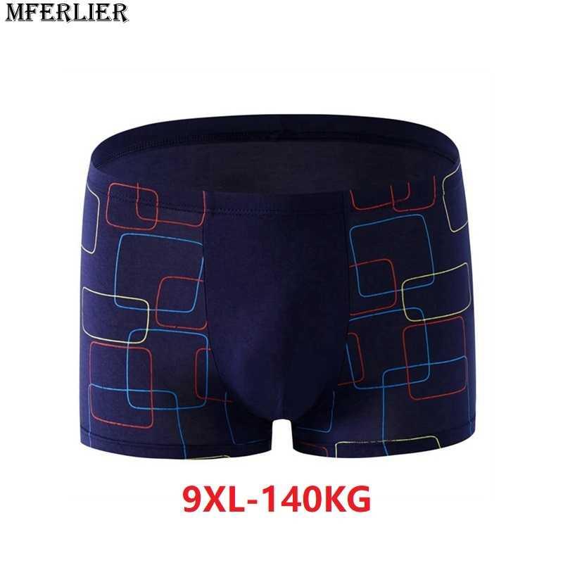 Hombres más tamaño grande boxeador 9XL algodón Modal elasticidad de gran  tamaño 7XL 8XL Calzoncillos ropa d6fb666c5c3a
