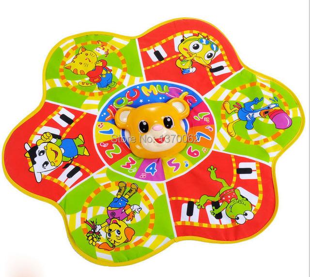 Carta Crianças multi-função QQ Urso Musical Russa jogo de música tapete 70*61 cm