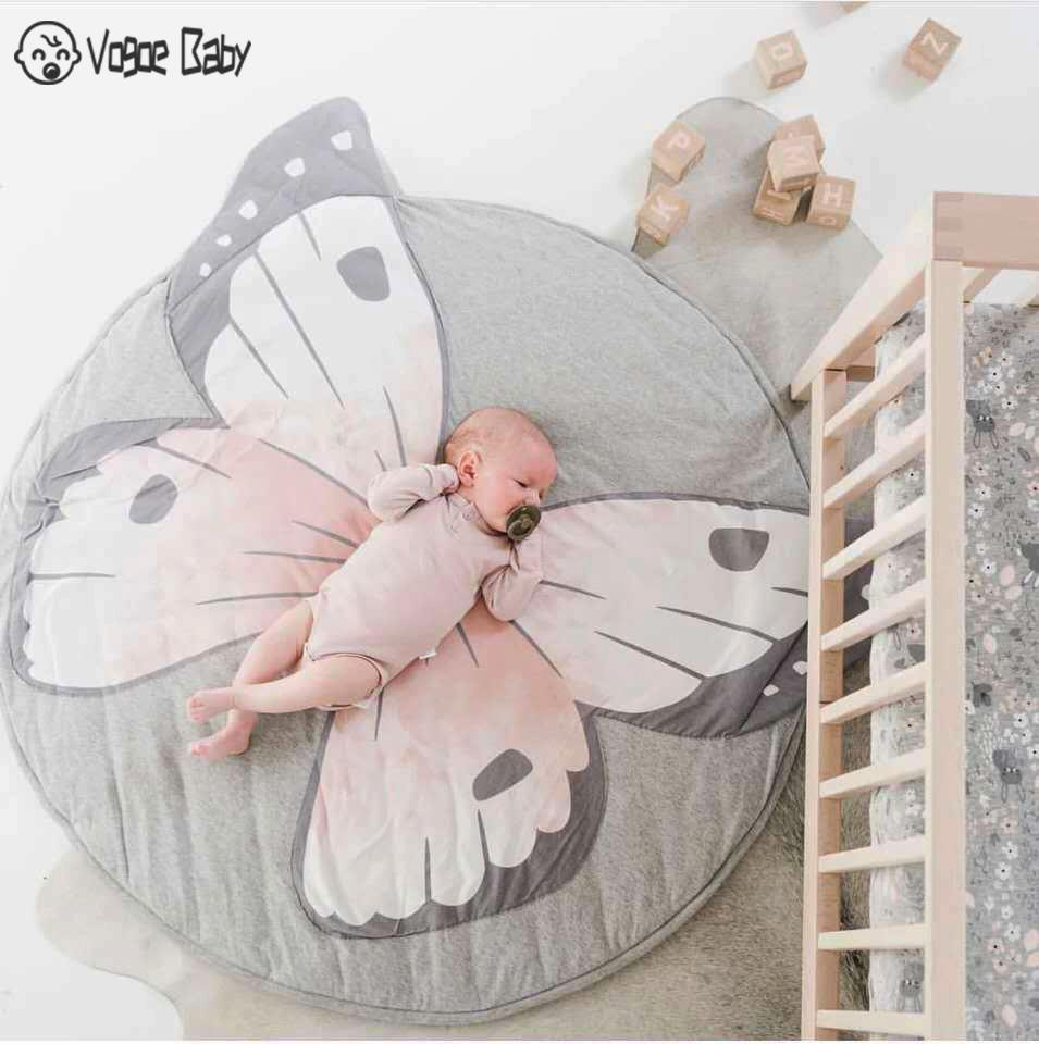 Tapete Infantil INS Baby Infant Play Mats Kids Crawling Carpet Floor Rug Baby Bedding Rabbit Blanket Cotton Game Pad Children Ro