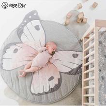 Tapete Infantil INS alfombrillas de juego para bebé, alfombra para gatear para niños, ropa de cama para bebé, manta con dibujo de conejo, almohadilla de juego de algodón para niños Ro