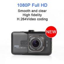 1080 P Full HD de 170 Grados ángulo de Cámara Del Coche dvr Dash Cam Video Recorder Cámara del coche-detector de Doble Cámara Oncam g-sensor