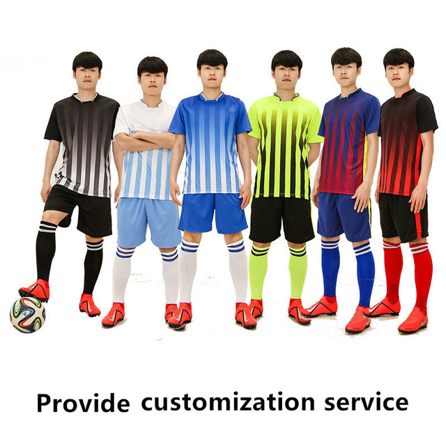 Men Football Team Jersey Customized Service Tracksuit Football Suit Boys Football Set