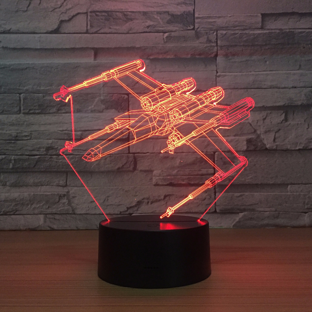 X Fighter Star Wars 7 Color Led Night Lamps For Kids Touch Led Usb Table Lampara Lampe Baby Sleeping Nightlight Drop Ship