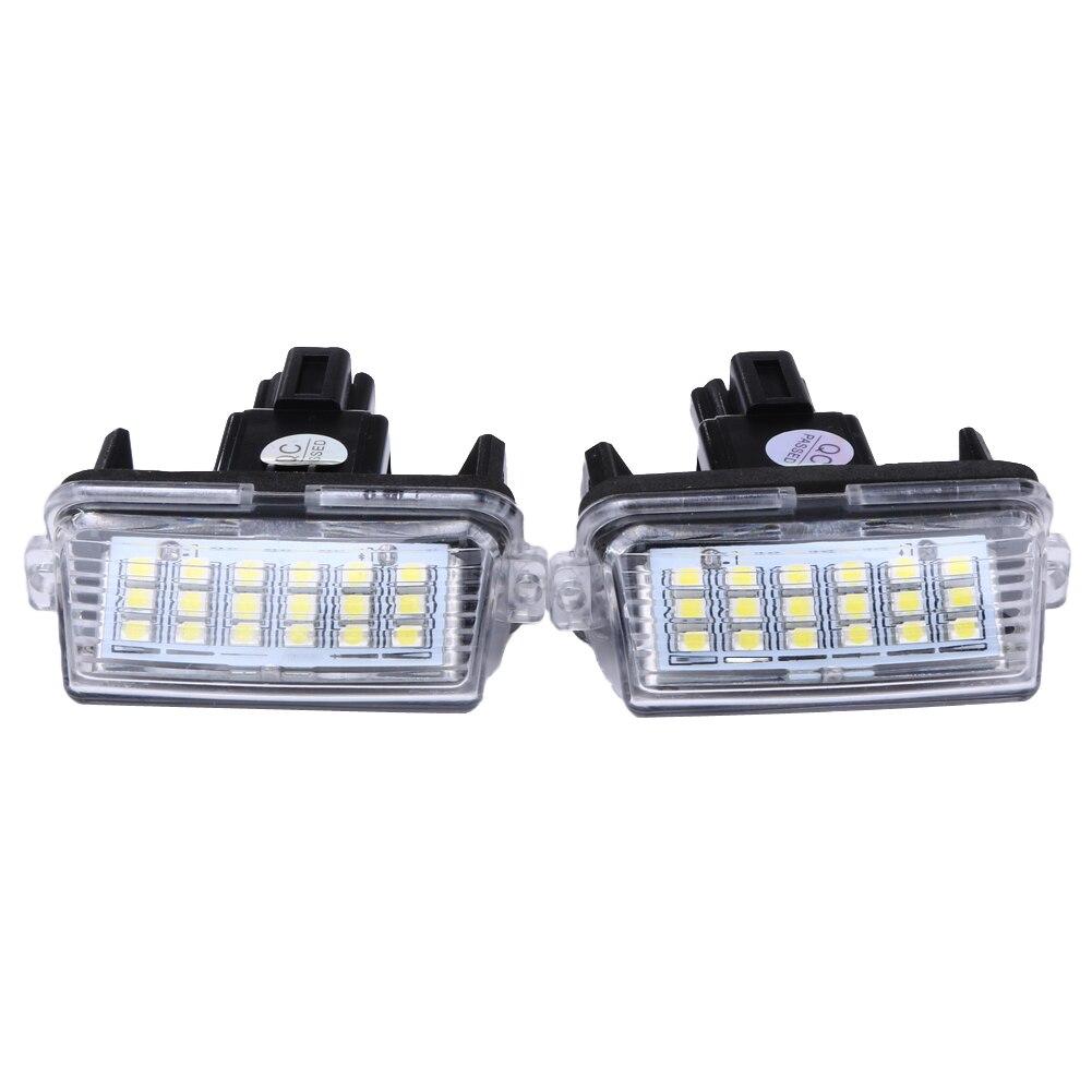 2 pcs 12 v 18leds 6000 k Voiture LED Ampoule Plaque D'immatriculation Lampe Lumière Externe pour Toyota /Camry/Yaris 2012 2013 Voitures