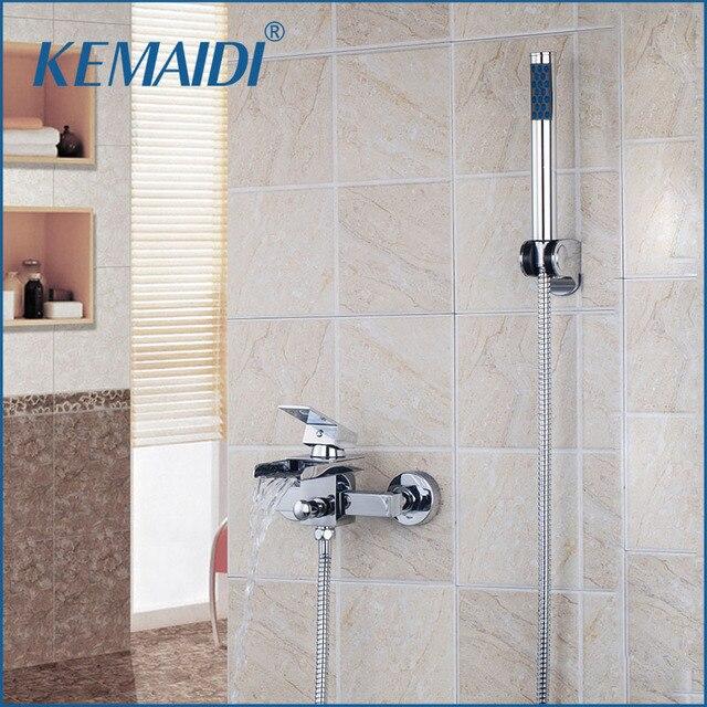 KEMAIDI Hohe Qualität Große Auslauf Mit Griff Dusche Badezimmer Wand ...