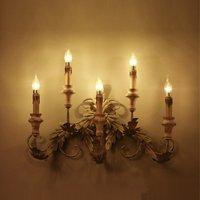 Ретро Кухня Книги по искусству настенный светильник Винтаж Лофт свет деревянный E14 свечах для Обеденная Кофе магазин декабря Бесплатная до