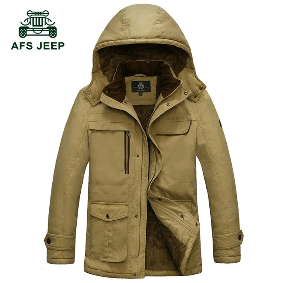 M ~ 4XL 5XL 2017 automne hiver bas & Parkas Cargo polaire épaissir vestes kaki manteaux décontracté coton à capuche nouveauté vestes