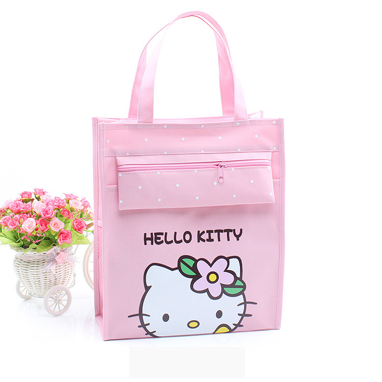 0589da3b40 Cartoon Hello Kitty Neverfull Shoulder Messenger Bags Women Canvas Crossbody  Handbag Makeup Handbags Art Small Shopping Tote Bag-in Shoulder Bags from  ...