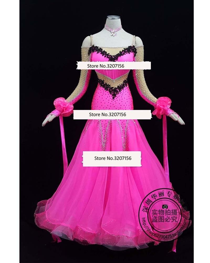 Valsa Tango moderno de Dança De Salão, Vestido Ballroom Suave, a Standard Ballroom Vestido, tamanho Personalizado Gratuitamente.