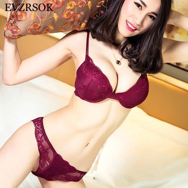 13ba27888 Super reunir Sujetador de encaje de conjunto de ropa interior de algodón  grueso rojo Sexy Lencería