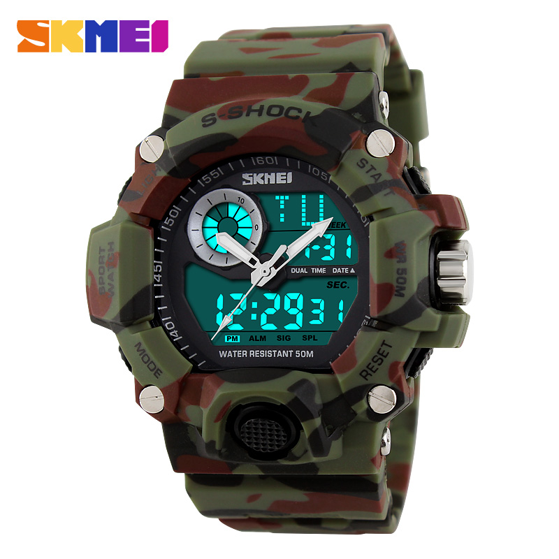 2016 New font b SKMEI b font Luxury Brand Men Military Sports Running Watches LED Digital