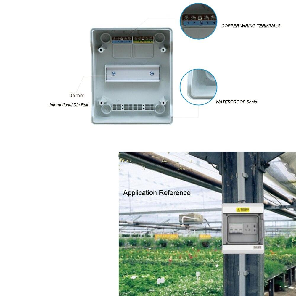 6 Way Verdrahtung Klemmen IP65 Wasserdichte Elektrische Verteilung ...