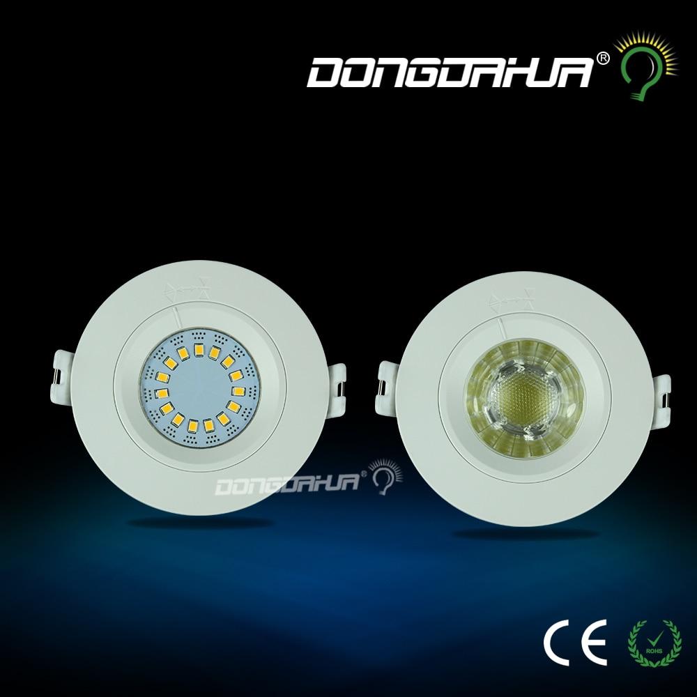 AC85 265V 3W 5W Dimmable LED Recessed Downlight Lamp White Ceiling Spot Light LED Down Light