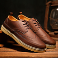 Hot sale men retro brogues oxfords genuine leather breathable flat casual shoes business shoes for men size 39-44