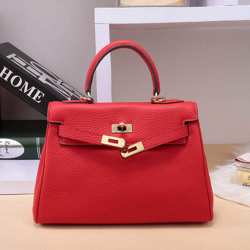 GENMEO New Arrival Genuine Leather Women Bag (30cm Length)  Female Luxury Handbag with Shoulder Strap Bolsa