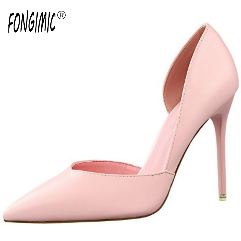Spring Autumn Women Pumps Pointed Toe Thin High Heels Pumps Lady Casual Slip On Shallow Shoes Simple Party Slim Nightclub Pumps gold chain party 2017 spring summer casual shallow slip on square toe bling square heels women pumps free ship mujer pantufa
