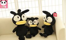 55cm korea meng black chicken plush font b doll b font chicken stuffed animal toy best