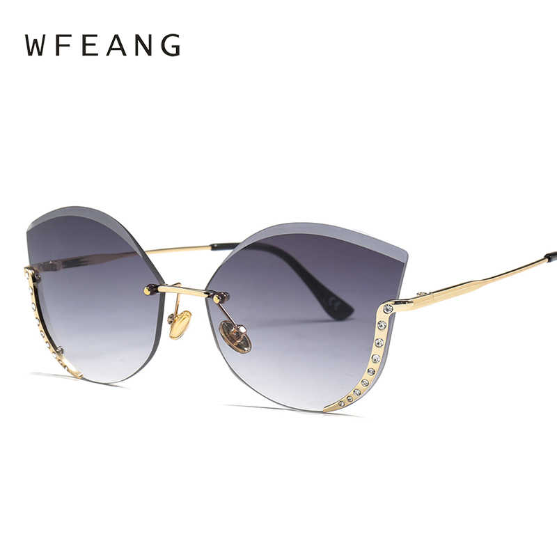 a2e232a79f2 Detail Feedback Questions about WFEANG cat eye sunglasses ladies brand  designer vintage shades tinted color lens women eyewear sun glasses oculos  on ...