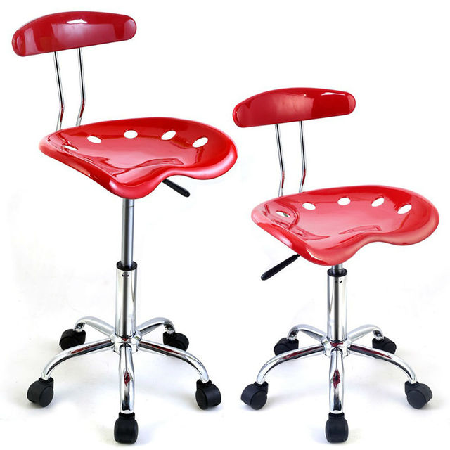 Adjustable Bar Stools ABS Tractor Seat Swivel Chrome Kitchen Breakfast  Black Red Chair Butterfly Bar Chair