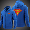 Superman Hoodies Warm  Coat Jacket Winter Thick print Superman Sweatshirts  free shipping     TT020