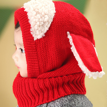 5 kinds of colors Winter new han edition children lovely dog baby warm shawl wool scarf hat Knitted cap